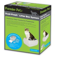 Premier Pet Dual-Fresh Litter Box System for Cats, Easy-to-Clean Cat Litter Box