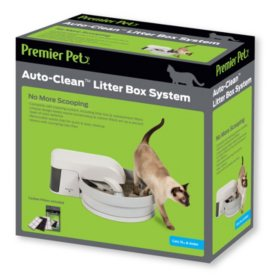 Premier Pet Auto-Clean Litter Box System, Self-Cleaning Litter Box for Cats