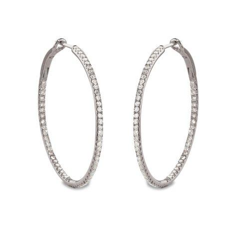 0.50 CT. T.W. Diamond Hoop Earrings in Sterling Silver (H-I, I1)