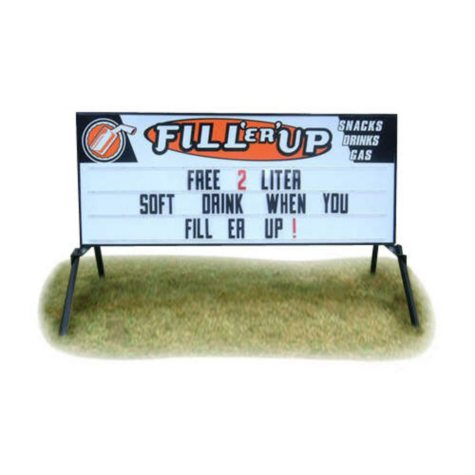 Portable Sign with Custom Header & 150 Letters