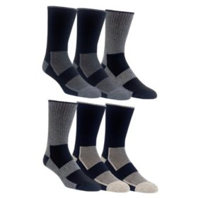 GH Bass Men's 6-Pack Crew Socks