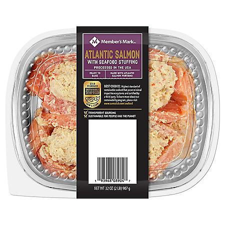Member's Mark Fresh Atlantic Salmon with Seafood Stuffing (32 oz.)