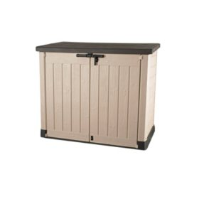 Keter Store-It-Out MAX Resin Horizontal Outdoor Storage Shed, Beige