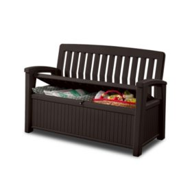 Prime Keter 60 Gallon All Weather Outdoor Patio Storage Bench Gmtry Best Dining Table And Chair Ideas Images Gmtryco