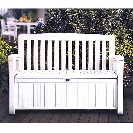 Keter 60-Gallon All-Weather Outdoor Patio Storage Bench