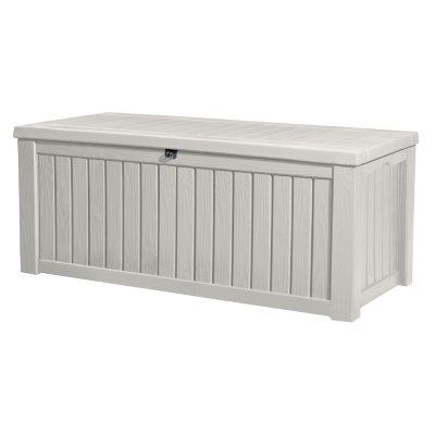 Rockwood 150 Gallon Outdoor Storage Deck Box, White