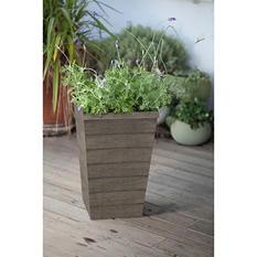 Keter Resin Wood Slat Planter