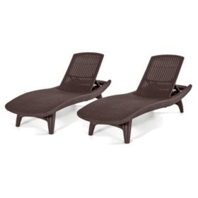 All Pack Colors Keter Chaise 2 Weather LoungerVarious Grenada wOvnmN08