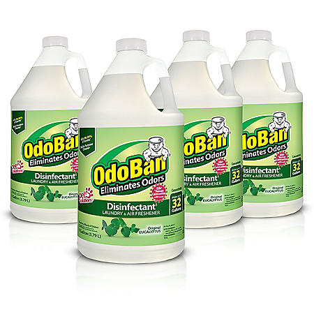 OdoBan Odor Eliminator and Disinfectant Concentrate, Eucalyptus Scent (4 pk.)