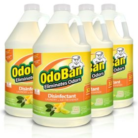 OdoBan Odor Eliminator and Disinfectant Concentrate, Citrus  (4 pk.)