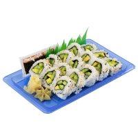 FujiSan Cucumber Avocado Vegetarian Sushi Roll (12 pcs.)