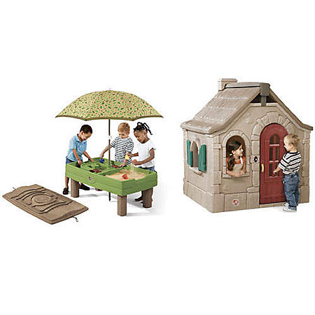 Storybook Cottage & Sand and Water Activity Table - Sam's Club