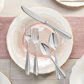 Hampton Signature 20-Piece Flatware Set, Nobility Frosted (Service for 4)