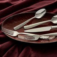 Hampton Signature Vento Hammered 50-Piece Flatware Set, Service for 8