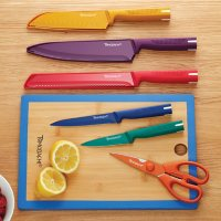Tomodachi by Hampton Forge 12-Piece Akita Cutlery Set with Cutting Board (Assorted Colors)