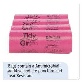 "Stout Tidy Girl Feminine Hygiene Sanitary Disposal Bags, 4"" x 10"" (150 bags/roll, 4 rolls/carton)"