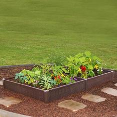 """Greenland Gardener Basketweave Raised Garden Bed Kit - 42"""" x 84"""" x 8"""""""