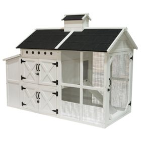 """Farmhouse Wooden Chicken Coop 72"""" x 38"""" x 56"""""""