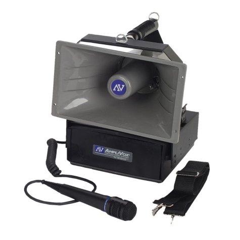 Amplivox Half-Mile Hailer PA with Wired Mic