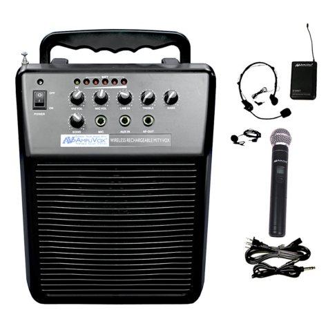 Amplivox Mity-Vox 20W PA with Lapel/Handheld Mic