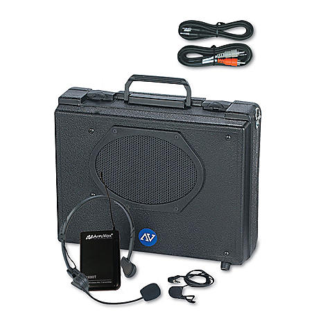 Amplivox Buddy 50W Wireless PA with Lapel/Headset Mic