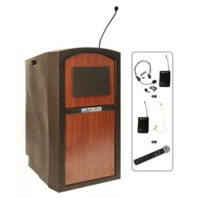 Amplivox 50W Pinnacle Wireless Mulitimedia Full Height Lectern, Select Color