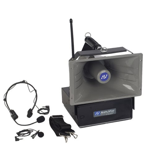 Amplivox Wireless Hailer PA with Lapel/Headset Mic