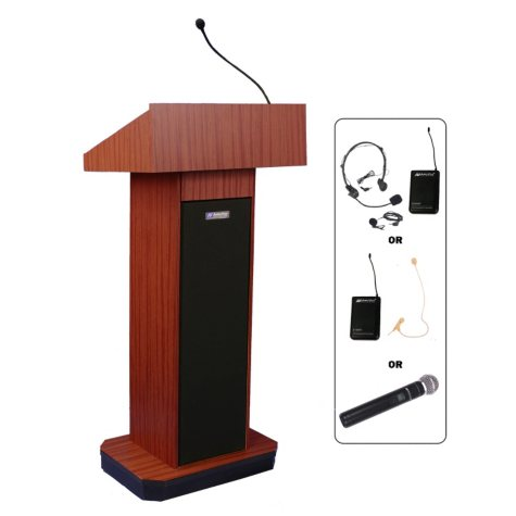 Amplivox Wireless Lectern with 2 Speakers