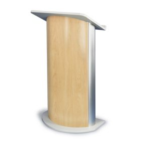 Amplivox Non-Sound Curved Hardrock Maple Lectern, Maple