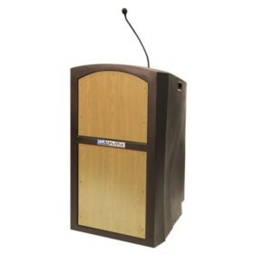 Amplivox Pinnacle Multimedia Sound Lectern with Mic, Select Color