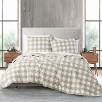 Anne Klein Gingham 3-Piece Quilt Set (Assorted Sizes and Colors)