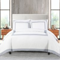 Anne Klein Hotel Frame 3-Piece Comforter Set (Assorted Sizes and Colors)