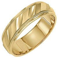 14K Yellow Gold 5.5mm Comfort-Fit Wedding Band