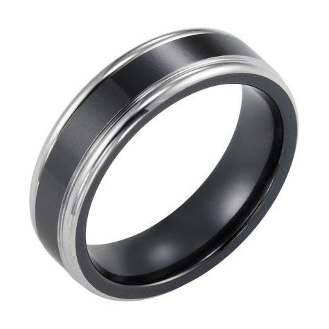 Black Titanium Comfort-Fit Band - 6.5mm