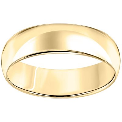 Mens Womens Solid 14K Gold Handmade Comfort Fit Wedding Band 6MM SIZE 4-14.