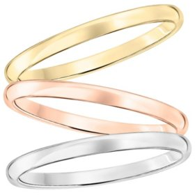 2mm Comfort Fit Band in Gold