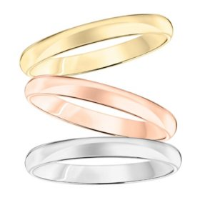 3mm Comfort Fit Wedding Band in 14K Gold