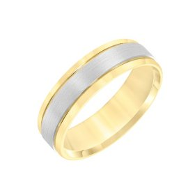 6mm Band in 14K Two-Tone Gold