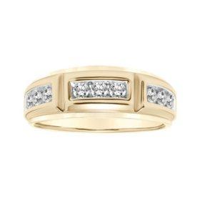 0.75 CT. T.W. Men's Diamond Ring in 14K Gold