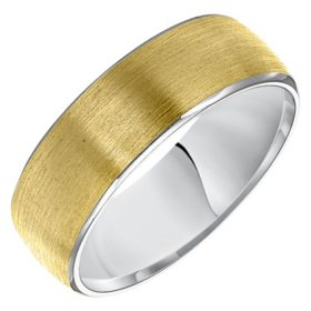 7MM Satin Comfort Fit Band in 14 Karat Two Tone Gold