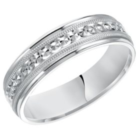 6MM Comfort Fit Band in 14 Karat White Gold
