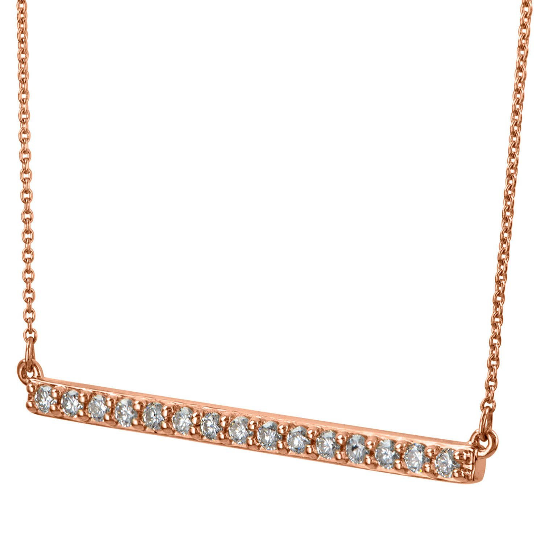0.24 CT. T.W. Diamond Horizontal Bar Necklace in 14 Karat Gold