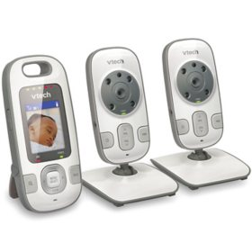 VTech's Safe and Sound 2 Camera Full Color Video and Audio Baby Monitor, VTEVM3122