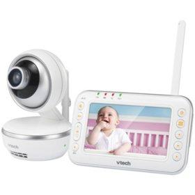 """VTech 4.3"""" Full-Color Digital Video Baby Monitor with Pan & Tilt Camera, VM4261"""