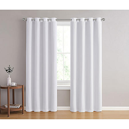 Blockade 100% Blackout Lined Chambray Window Panel Pair (Various Sizes and Colors)