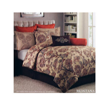 9PC COMFORTER SET MONTANA - QUEEN