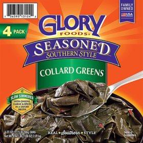 Glory Seasoned Collard Greens (27 oz., 4 pk.)