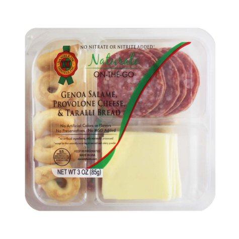 Naturale On-The-Go Genoa Salame, Provolone Cheese & Taralli (3 oz., 12 pk.)