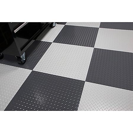 RaceDay Peel & Stick Diamond Tread Tile - Various Colors Available