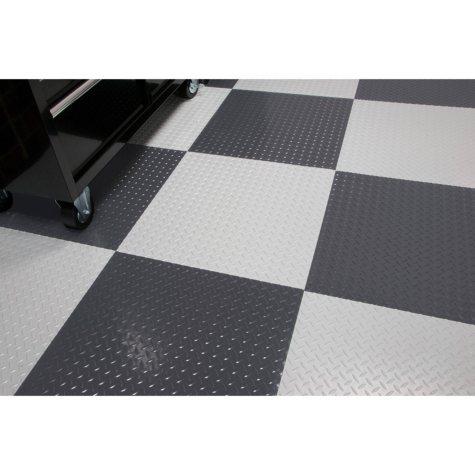 "RaceDay Peel & Stick Diamond Tread Tile - 24"" x 24"" (10-pk) Various Colors Available"